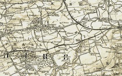 Old map of Burnside in 1904