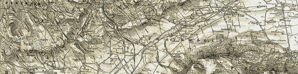 Old map of Wester Gospetry in 1906-1908