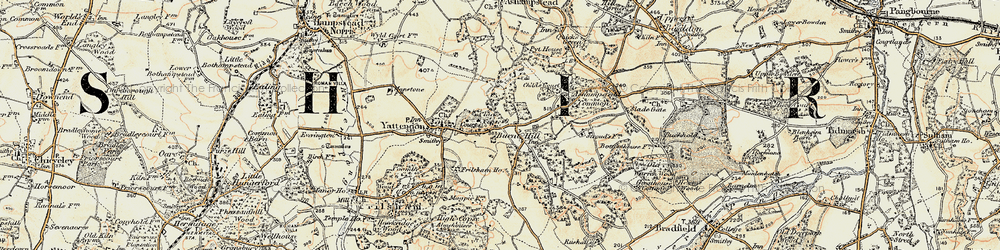 Old map of Yattendon Court in 1897-1900