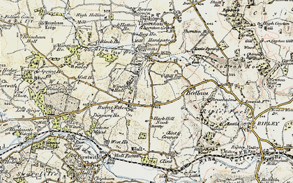 Old map of Winsley Hall in 1903-1904