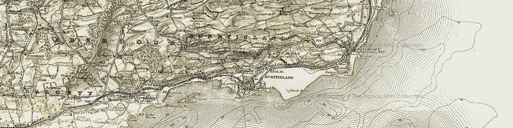 Old map of Burntisland in 1903-1906
