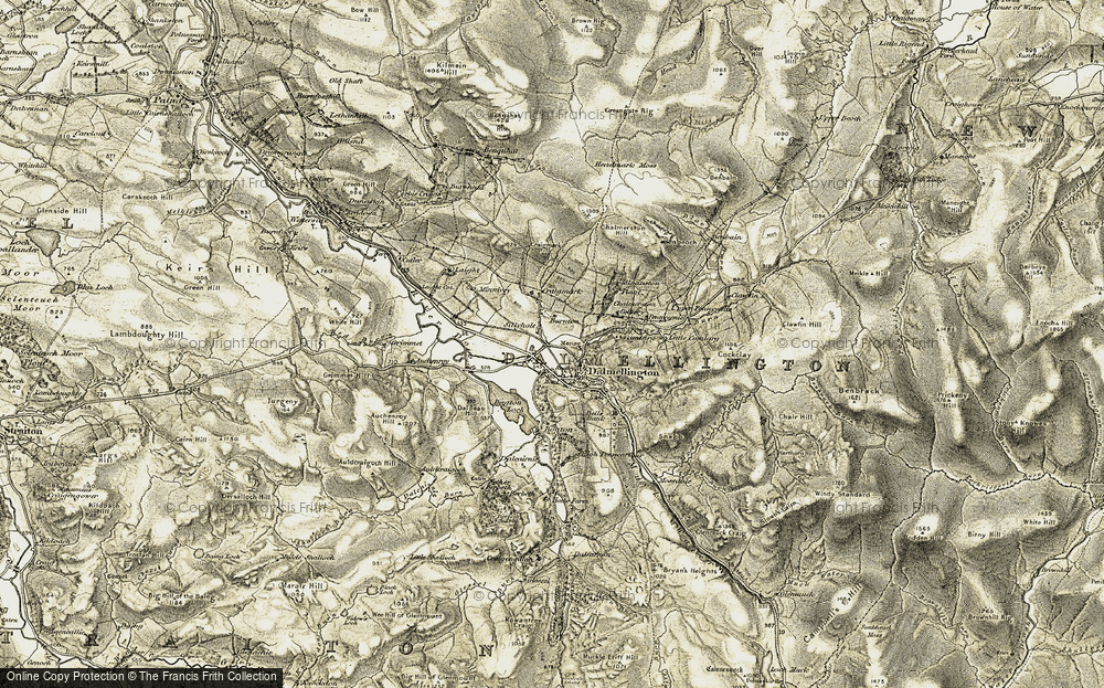 Old Map of Historic Map covering Auchenroy in 1904-1905
