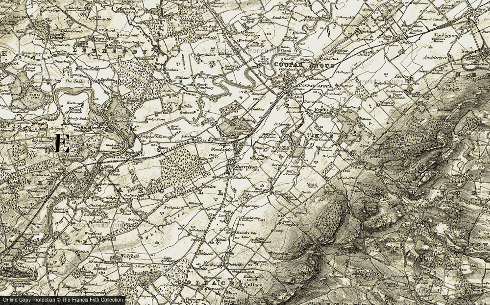Old Map of Historic Map covering Laystone in 1907-1908