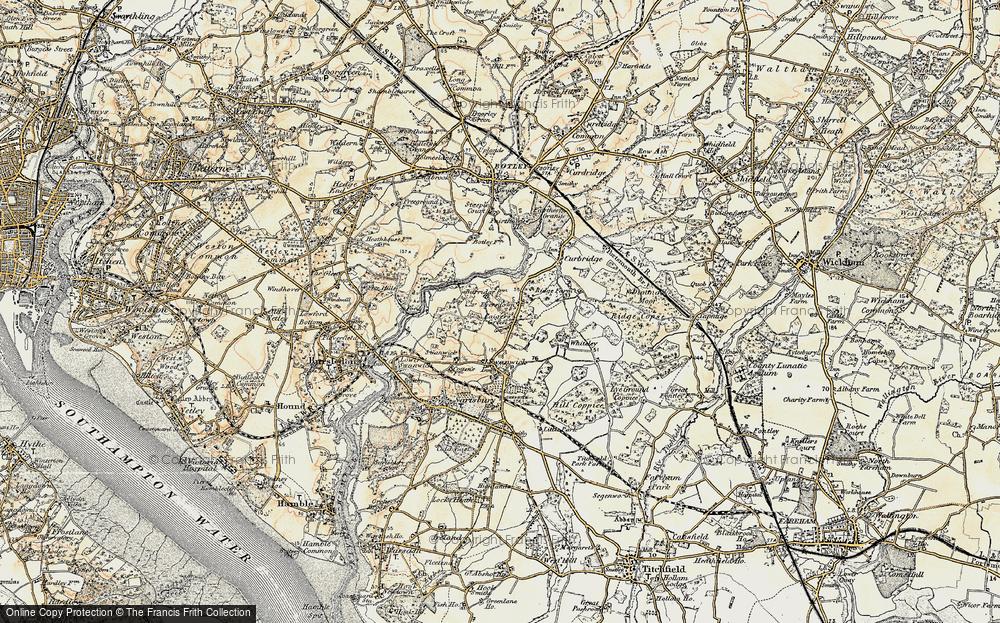 Old Map of Burridge, 1897-1899 in 1897-1899