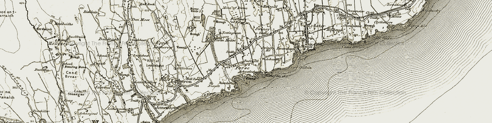 Old map of Achastle in 1911-1912