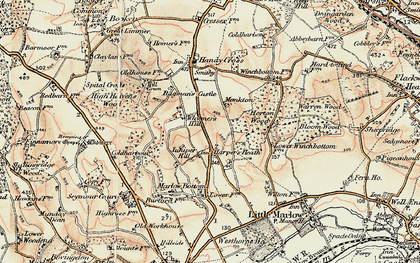 Old map of Burroughs Grove in 1897-1898