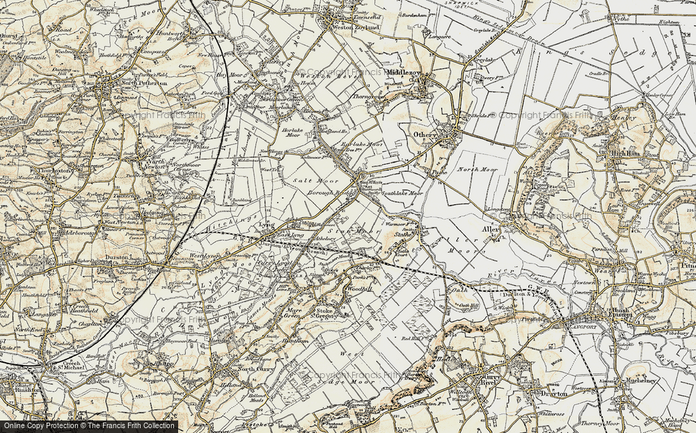 Old Map of Burrowbridge, 1898-1900 in 1898-1900