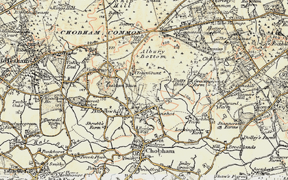 Old map of Albury Bottom in 1897-1909