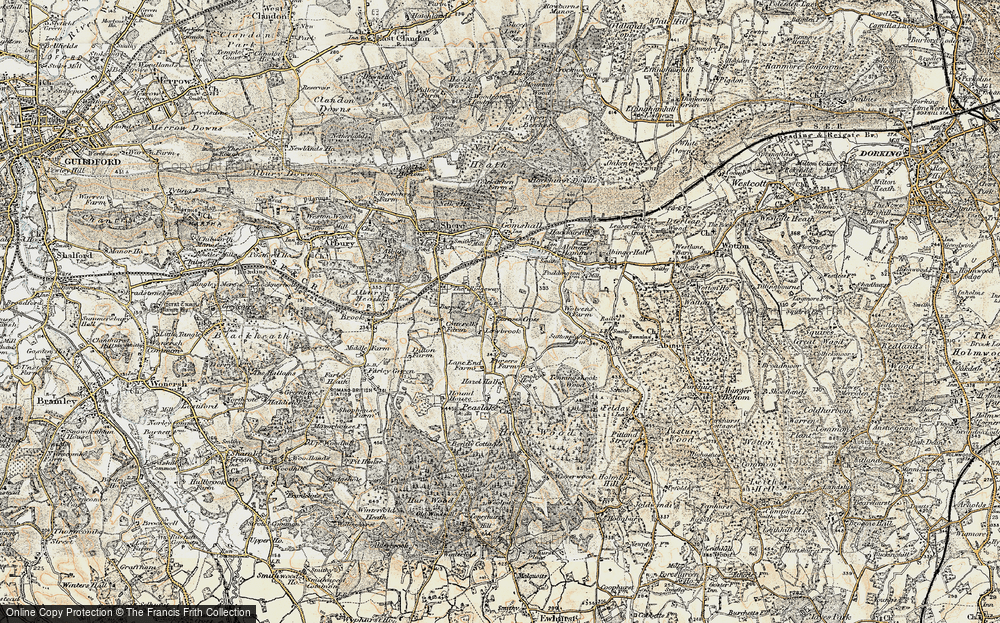 Old Map of Burrows Cross, 1898-1909 in 1898-1909