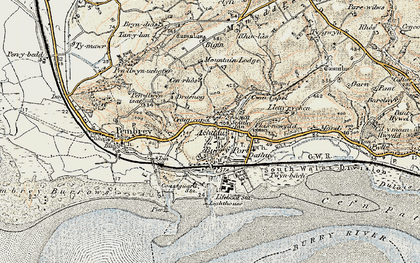 Old map of Burry Port in 1900-1901