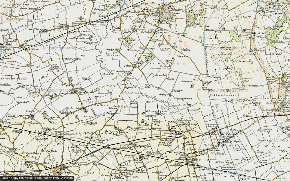 Old Map of Historic Map covering Asselby Grange in 1903