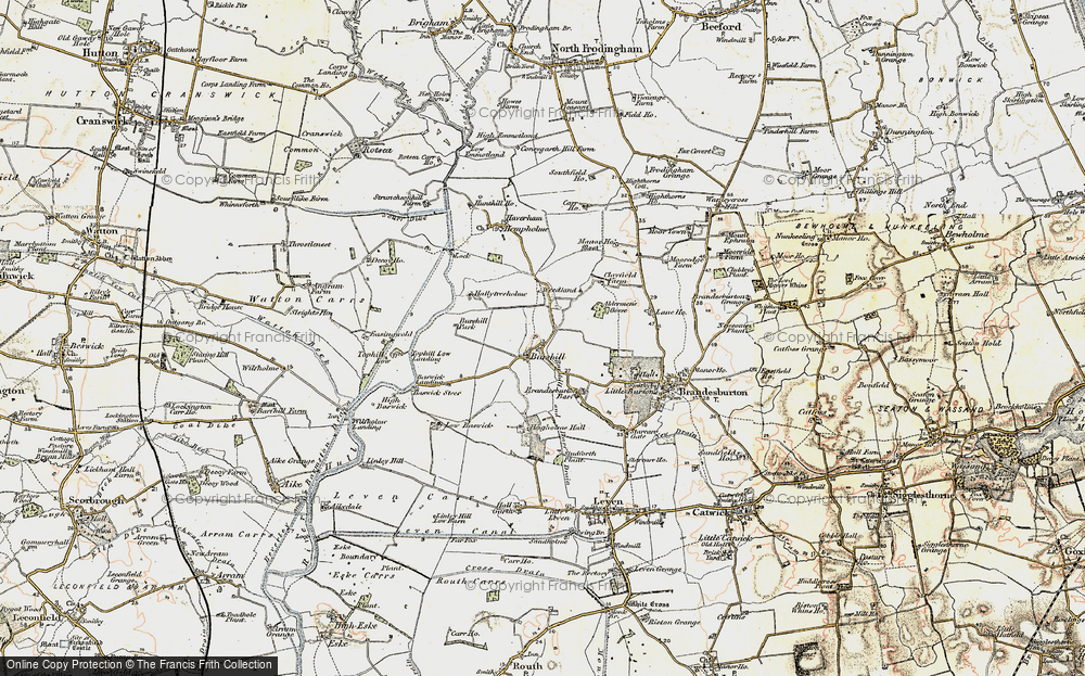 Old Map of Historic Map covering Aldermen's Gorse in 1903