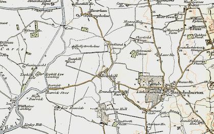 Old map of Aldermen's Gorse in 1903