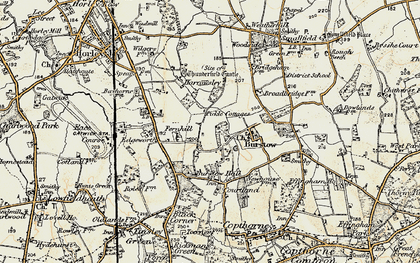 Old map of Burstow in 1898-1902