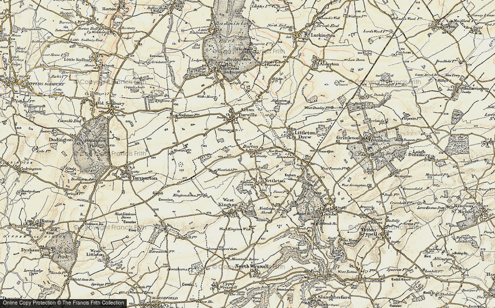 Old Map of Burton, 1898-1899 in 1898-1899