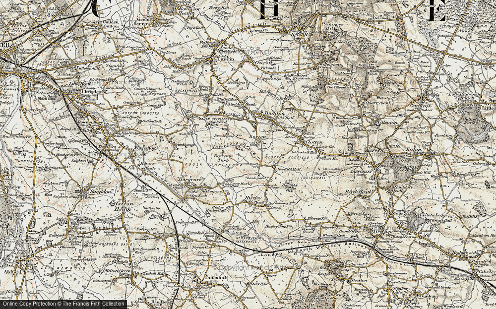 Old Map of Burton, 1902-1903 in 1902-1903