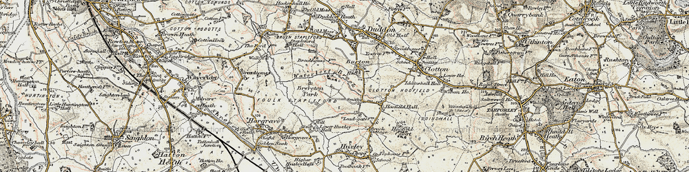 Old map of Burton in 1902-1903