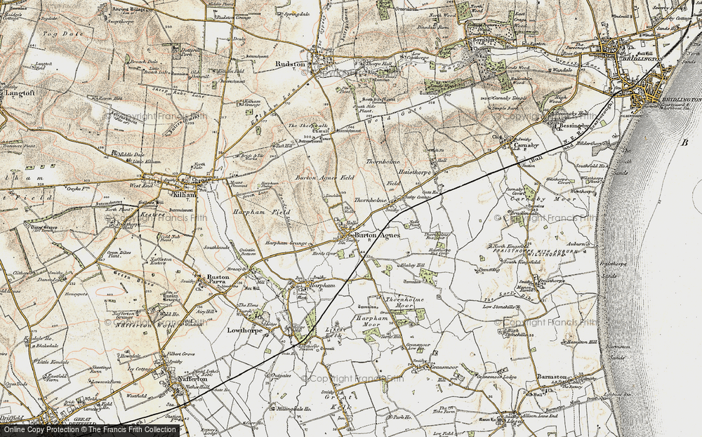 Old Map of Burton Agnes, 1903-1904 in 1903-1904