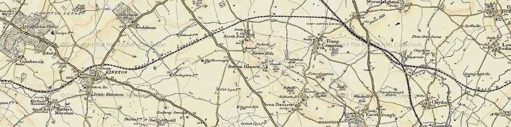Old map of Burton Dassett in 1898-1901