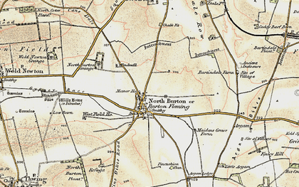 Old map of Willy Howe in 1903-1904