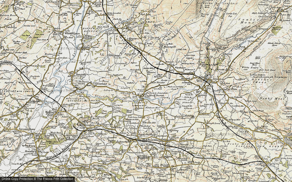 Old Map of Burton in Lonsdale, 1903-1904 in 1903-1904