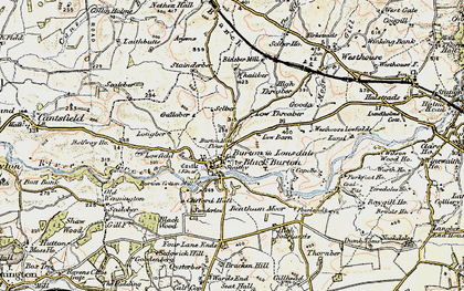 Old map of Burton in Lonsdale in 1903-1904