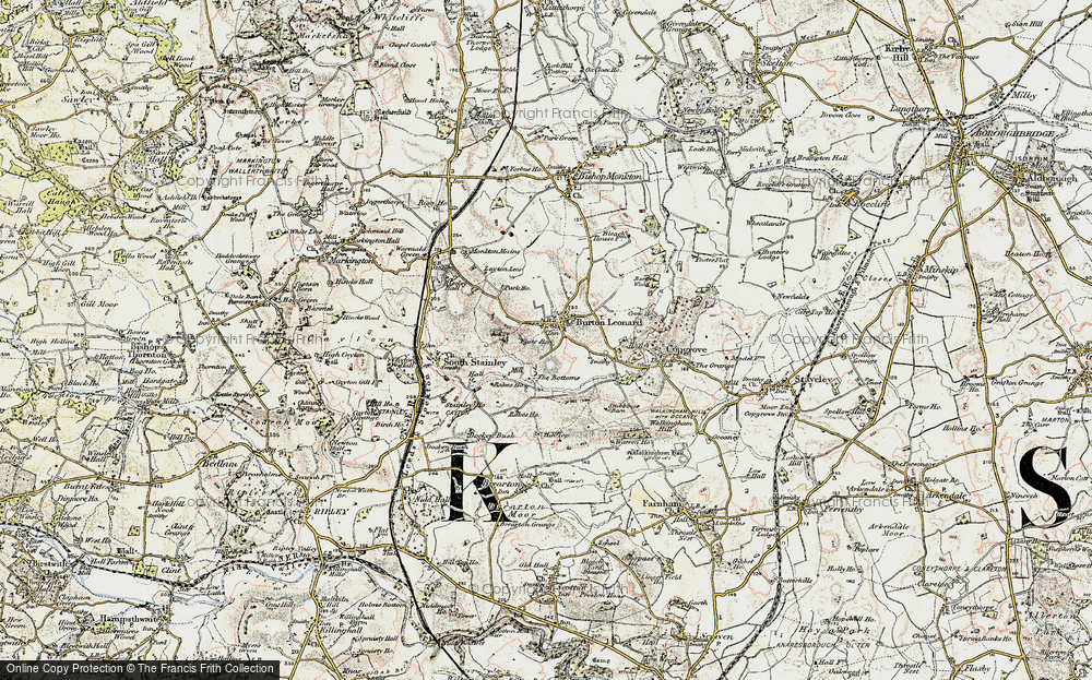 Old Map of Historic Map covering Leyton Lees in 1903-1904
