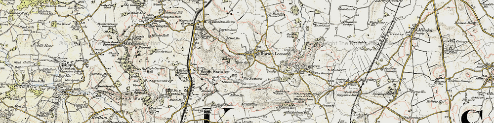 Old map of Burton Leonard in 1903-1904
