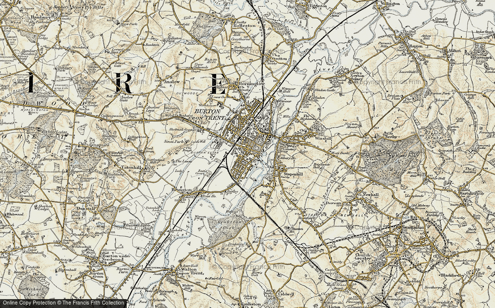 Old Map of Burton upon Trent, 1902 in 1902