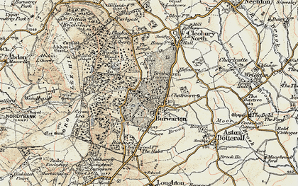 Old map of Banbury in 1901-1902