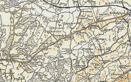 Old map of Burwash in 1898