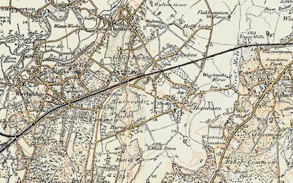 Old map of Burwood Park in 1897-1909