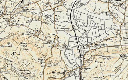 Old map of Bury in 1897-1899