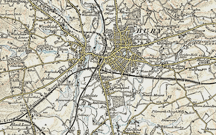 Old map of Bury in 1903