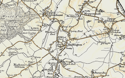 Old map of Bury End in 1898-1901