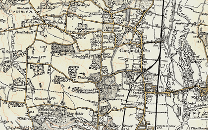 Old map of Bury Green in 1897-1898