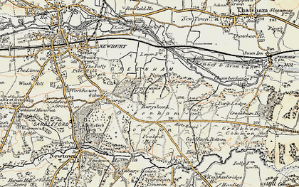 Old map of Bury's Bank in 1897-1900