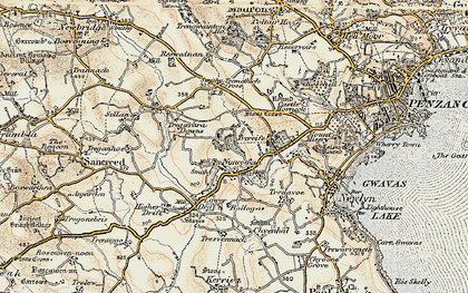 Old map of Buryas Br in 1900
