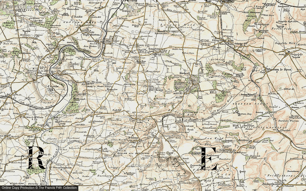 Old Map of Historic Map covering Langhill Plantn in 1903-1904