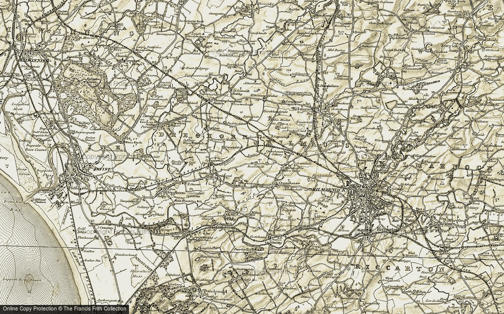 Old Map of Historic Map covering Langside in 1905-1906