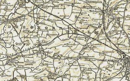Old map of Langside in 1905-1906