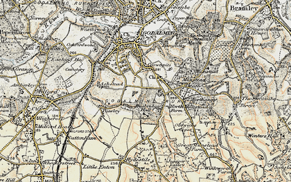 Old map of Busbridge in 1897-1909