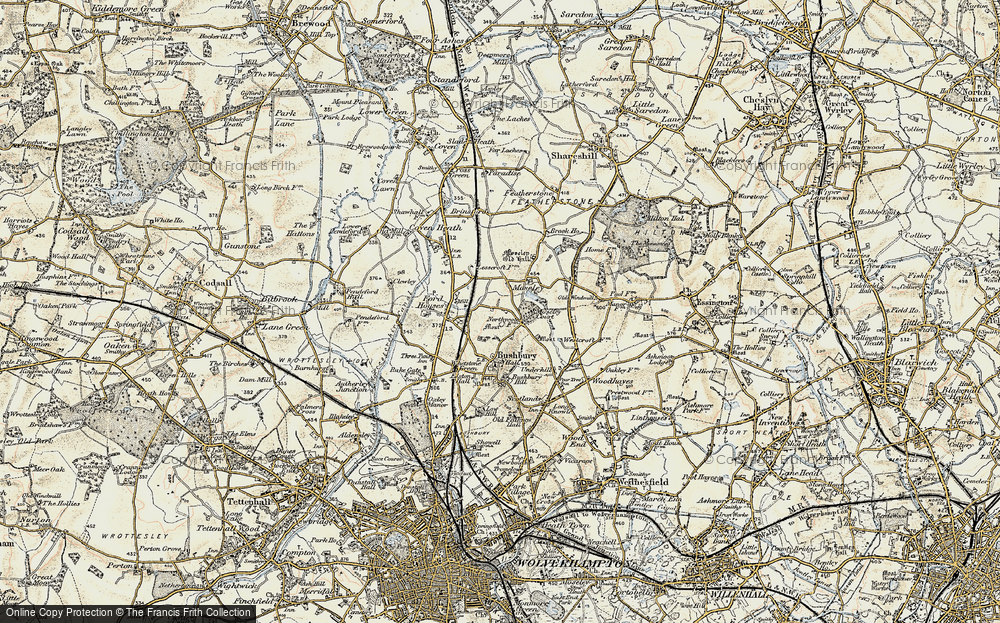 Old Map of Bushbury, 1902 in 1902