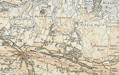 Old map of Wytch Heath in 1899-1909