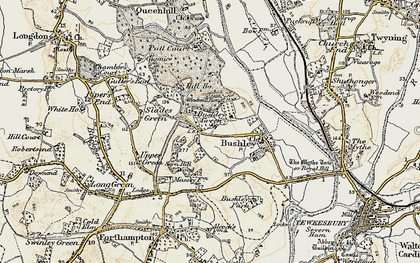 Old map of Windmill Tump in 1899-1901
