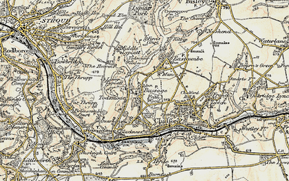Old map of Bussage in 1898-1900