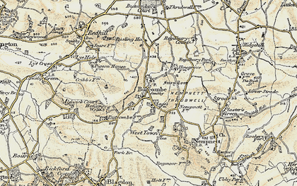 Old map of Butcombe in 1899