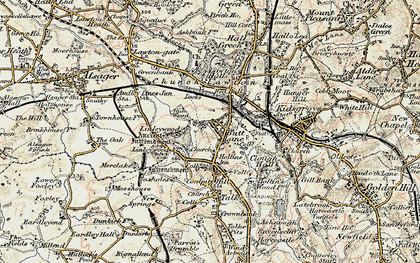 Old map of Linley Hall in 1902-1903