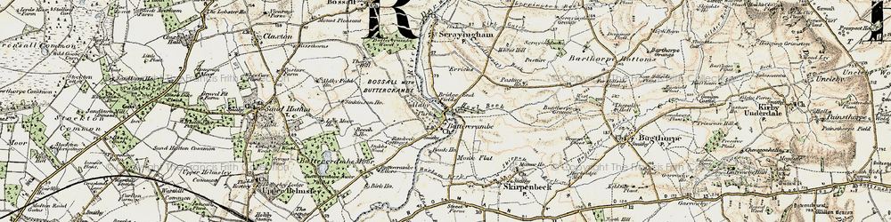 Old map of Aldby Park in 1903-1904