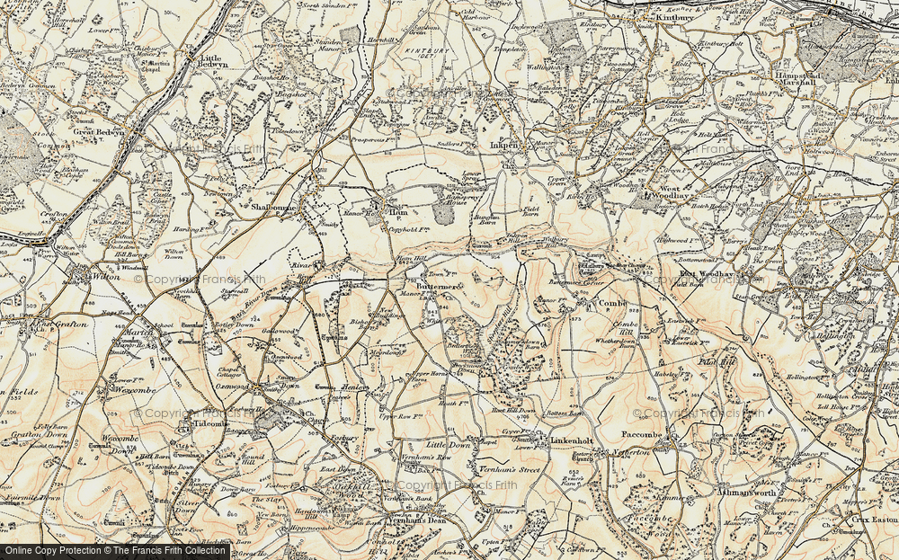 Old Map of Historic Map covering Ballyack Ho in 1897-1900